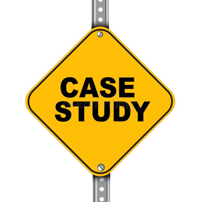 Señal de tráfico amarilla del estudio de caso stock de ilustración