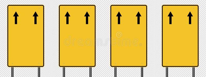señal de tráfico amarilla del símbolo, muestras del tablero del camino aisladas en fondo transparente Ilustración EPS 10 del vect libre illustration