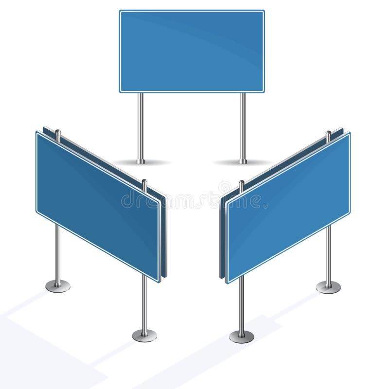 Señal de tráfico azul en blanco en el fondo blanco libre illustration