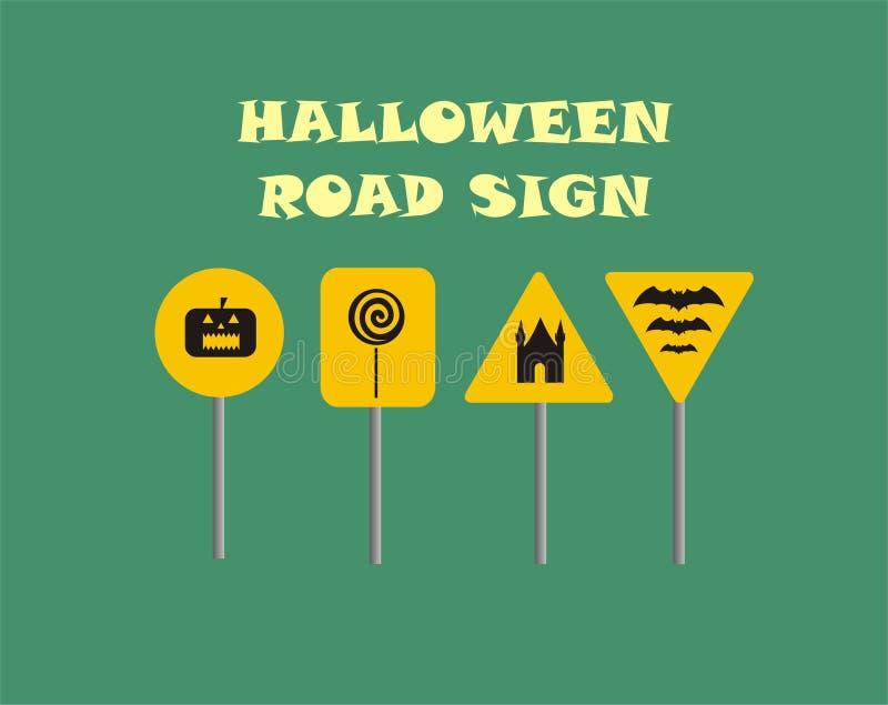 Señal de tráfico de Halloween ilustración del vector