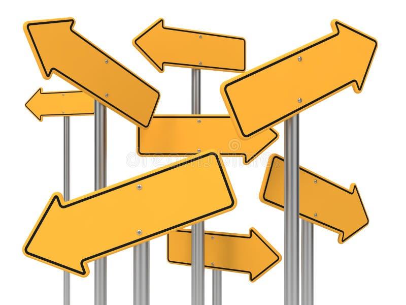 Señal de tráfico de la flecha direccional. ilustración del vector