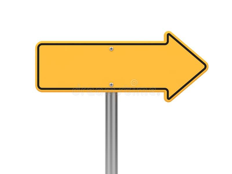 Señal de tráfico de la flecha direccional. libre illustration