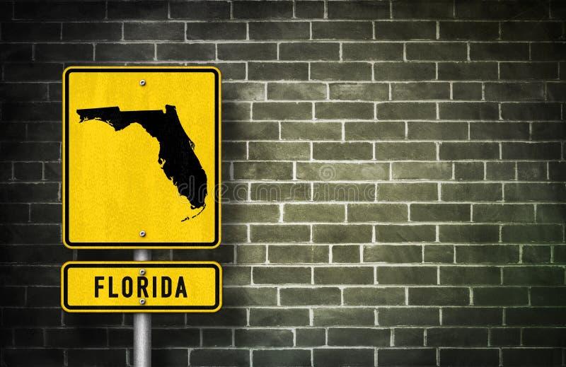 Señal de tráfico de la Florida ilustración del vector