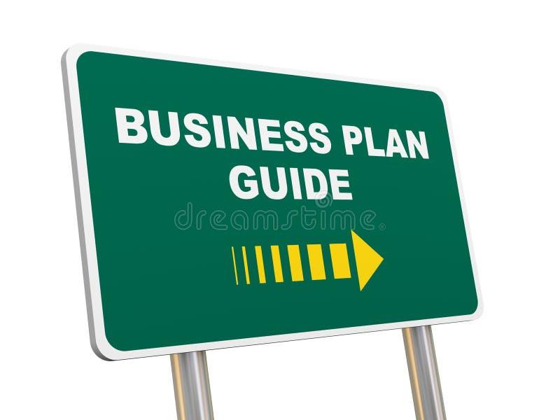 señal de tráfico de la guía del plan empresarial 3d stock de ilustración