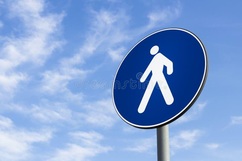 Señal de tráfico de los peatones solamente imagenes de archivo
