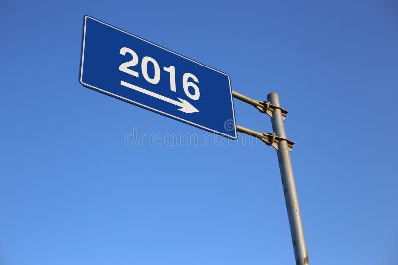 Señal de tráfico del Año Nuevo fotografía de archivo libre de regalías