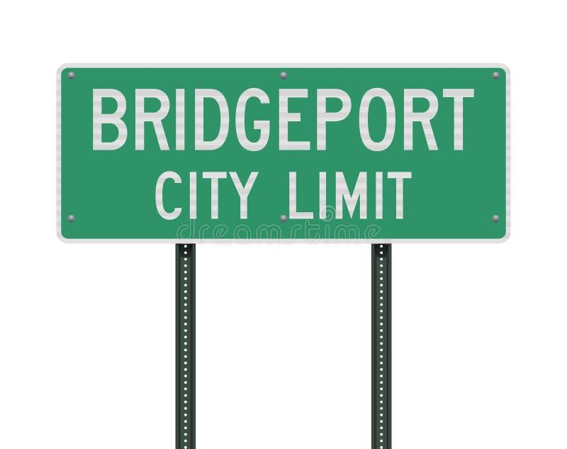 Señal de tráfico del límite de ciudad de Bridgeport ilustración del vector