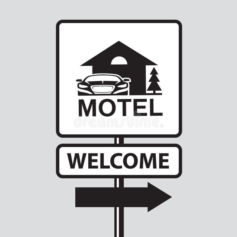 Señal de tráfico del motel ilustración del vector