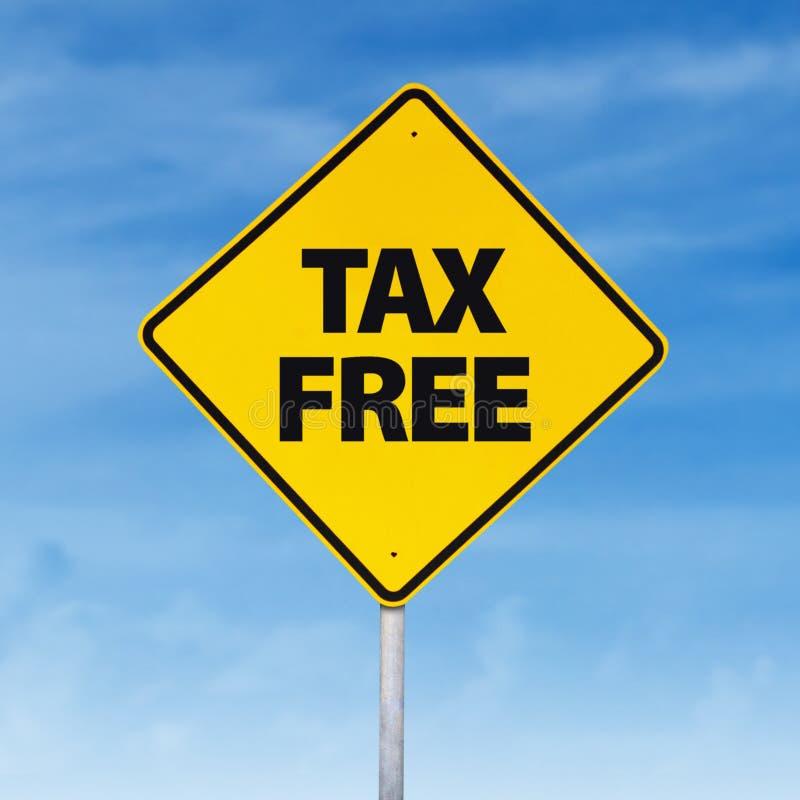 Señal de tráfico exenta de impuestos fotos de archivo libres de regalías