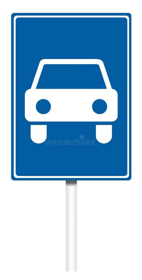Señal de tráfico informativa - camino para los coches libre illustration