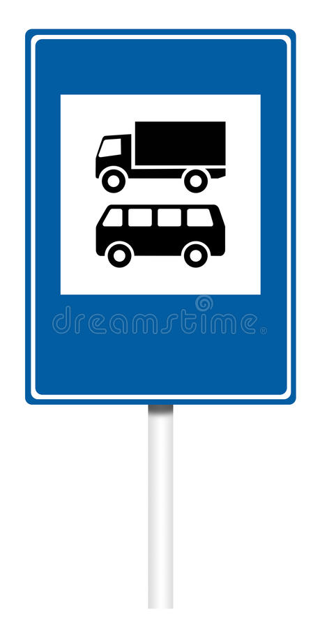 Señal de tráfico informativa - control del transporte stock de ilustración