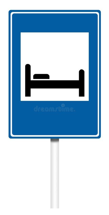 Señal de tráfico informativa - motel stock de ilustración