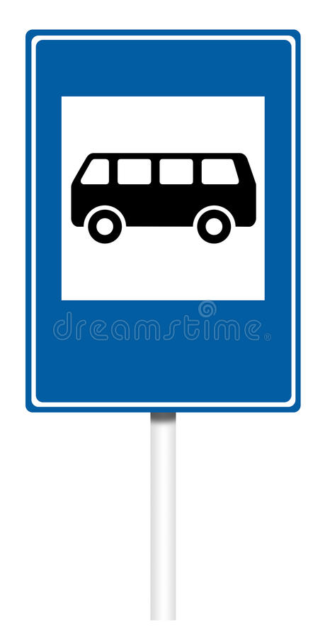 Señal de tráfico informativa - parada de autobús libre illustration