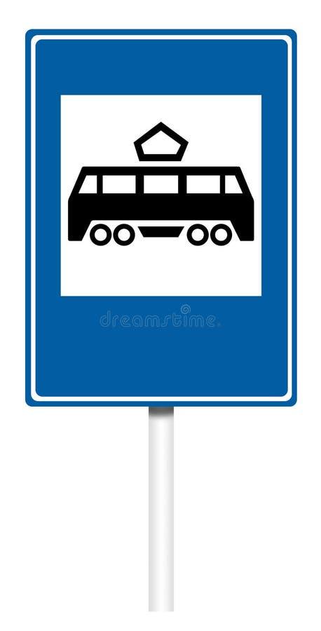 Señal de tráfico informativa - parada del tranvía libre illustration