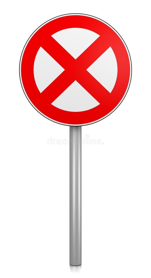 Señal de tráfico de la prohibición ilustración del vector