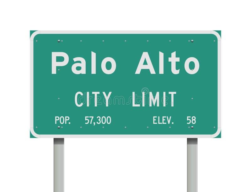Señal de tráfico de Palo Alto City Limit ilustración del vector