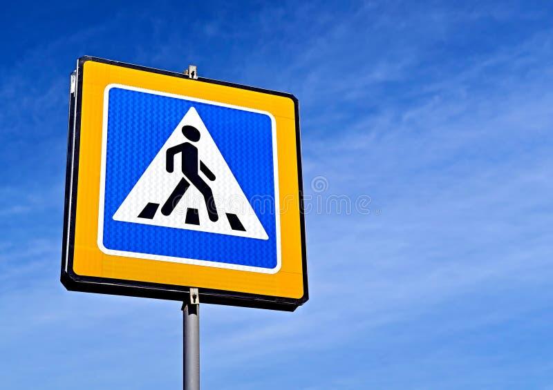 Señal de tráfico peatonal fotos de archivo