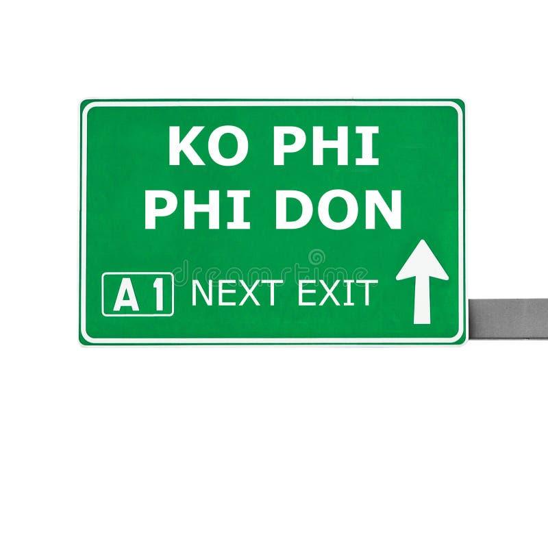 Señal de tráfico de PHI PHI DON del knock-out aislada en blanco stock de ilustración