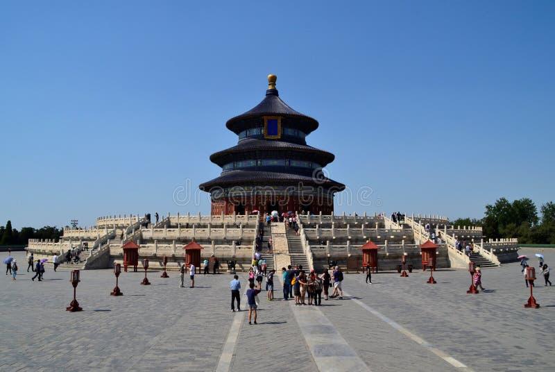 Señal del Templo del Cielo de la ciudad de Pekín, China imagen de archivo