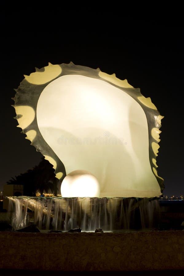Señal Doha de la perla foto de archivo libre de regalías