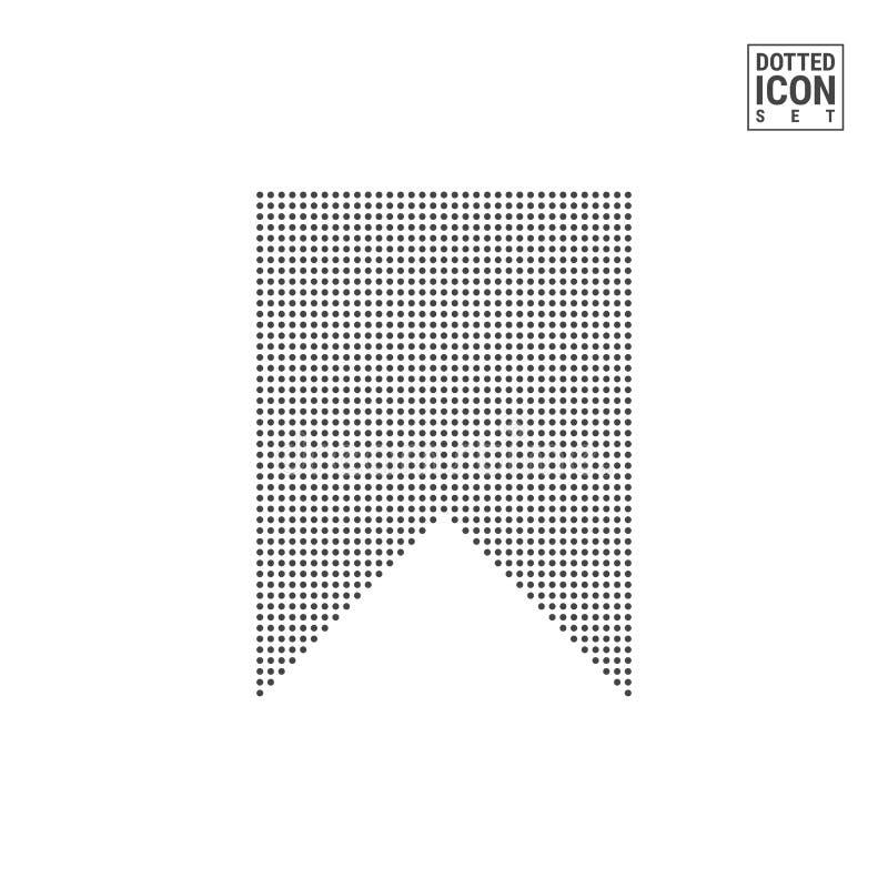 Señal Dot Pattern Icon Icono punteado marcador de la lectura aislado en blanco Plantilla del fondo o del diseño del vector libre illustration