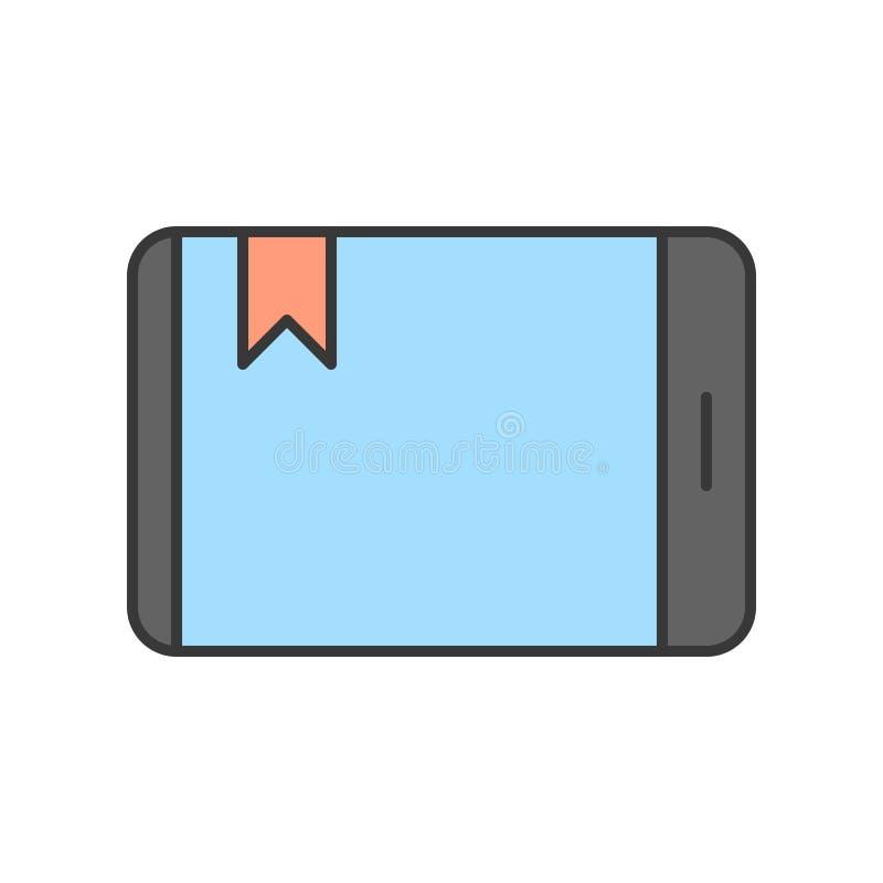 Señal en el icono de la pantalla de la tableta o del dispositivo del smartphone, st editable libre illustration