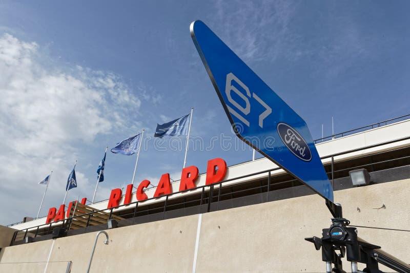 Señal en la pista de Paul Ricard imagen de archivo libre de regalías