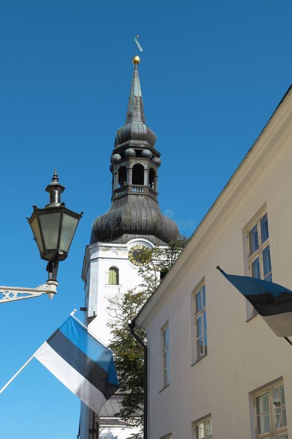 Señal en Tallinn fotografía de archivo