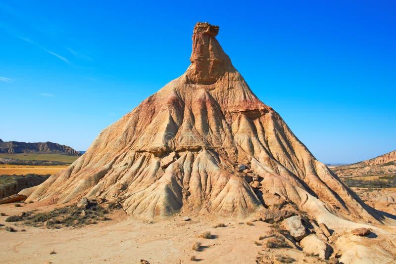 Señal famosa del desierto de Bardenas Reales imagen de archivo libre de regalías