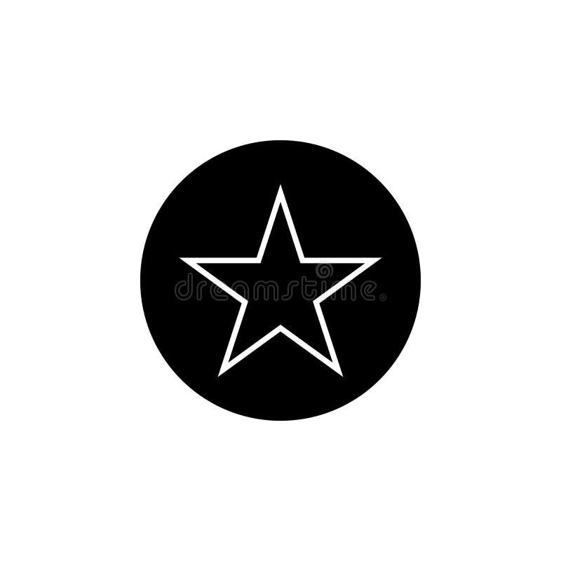 Señal, icono preferido de la estrella Las muestras y los símbolos se pueden utilizar para la web, logotipo, app móvil, UI, UX ilustración del vector