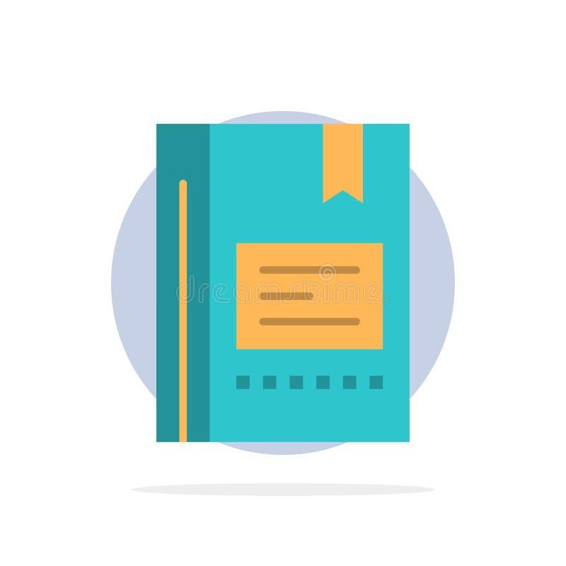 Señal, libro, educación, favorito, nota, cuaderno, leyendo el icono plano del color de fondo abstracto del círculo ilustración del vector