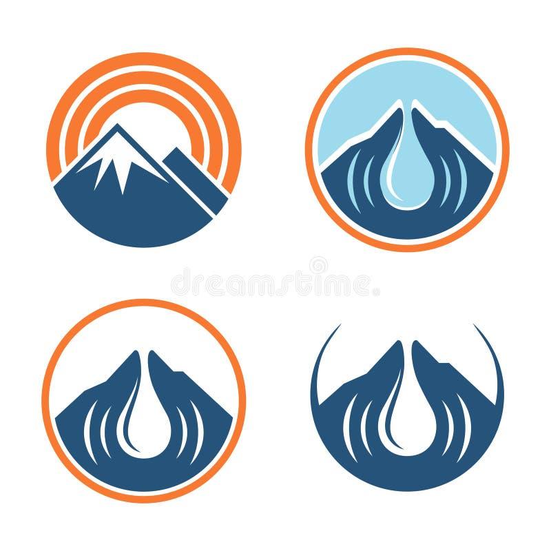Señal Logo Symbol Set de sonidos de la alarma de la montaña del círculo libre illustration