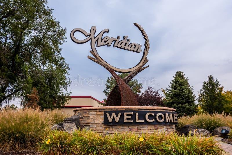 Señal meridiana de Idaho foto de archivo libre de regalías