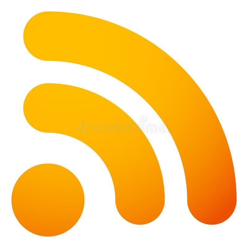 Señal o icono genérica de la fuente RSS Símbolo para la sindicación, wireles stock de ilustración