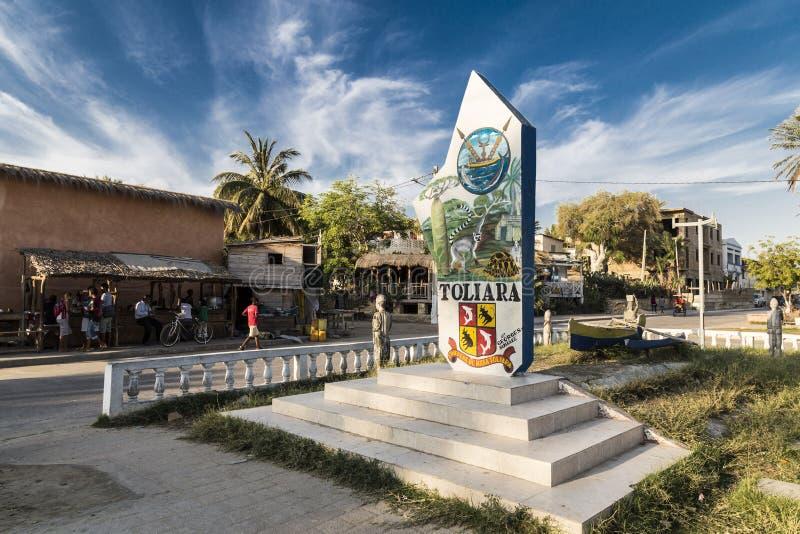 Señal De Localización: Señal Principal De Toliara, Madagascar Foto Editorial