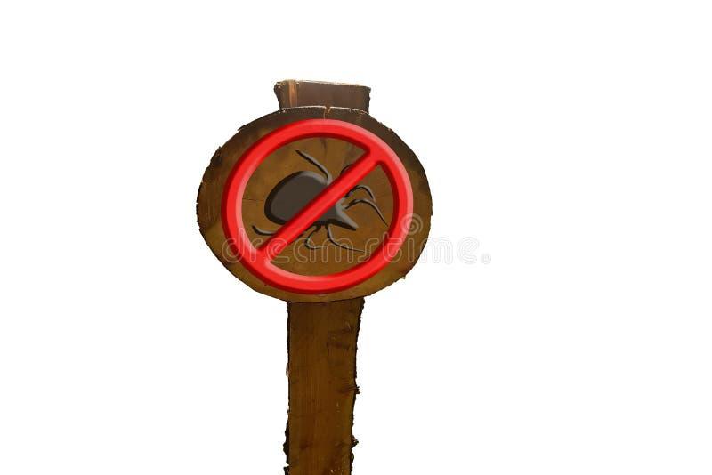 Señal que advierte la señal de peligro roja con símbolo de la señal fotos de archivo