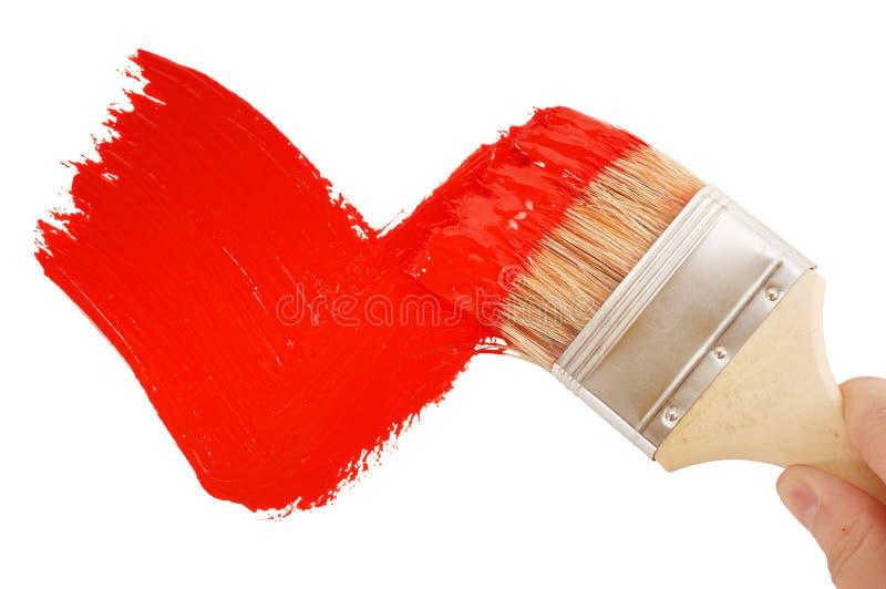 Señal roja de pintura fotos de archivo libres de regalías