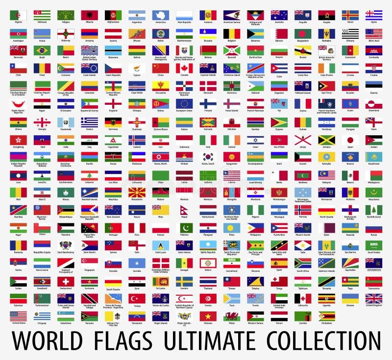 Señala el vector por medio de una bandera del mundo libre illustration