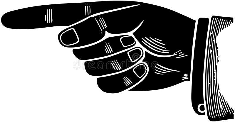 Señalar el gráfico de la mano libre illustration