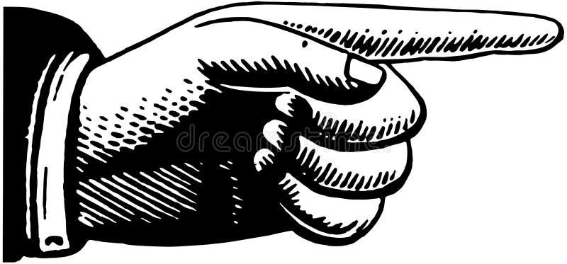 Señalar la mano 2 ilustración del vector