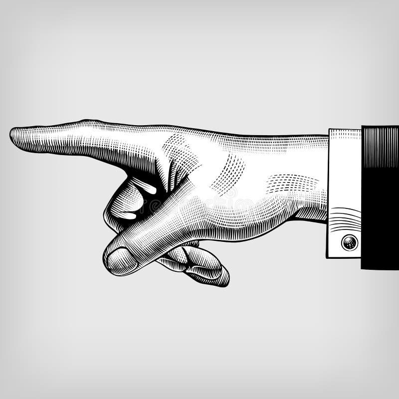 Señalar la mano libre illustration