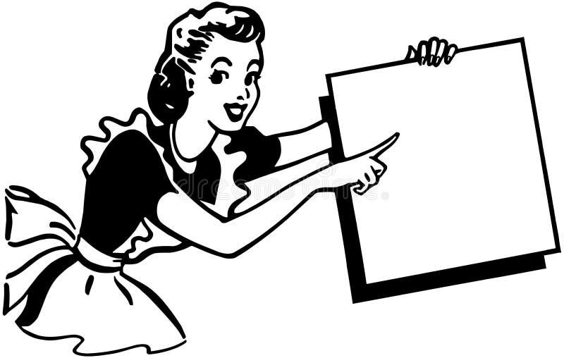 Señalar a la señora stock de ilustración