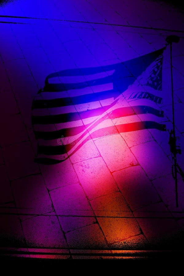 Señale el fondo de Grunge por medio de una bandera libre illustration