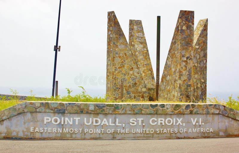 Señale el usvi del croix del st del udall easternmost de los E.E.U.U. fotografía de archivo