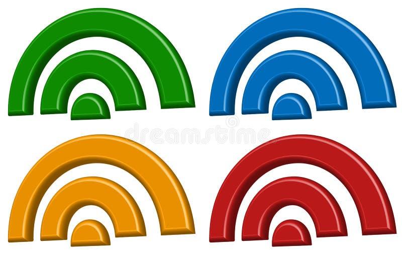Señale la conexión inalámbrica, wifi, muestras inalámbricas de Internet, sym ilustración del vector