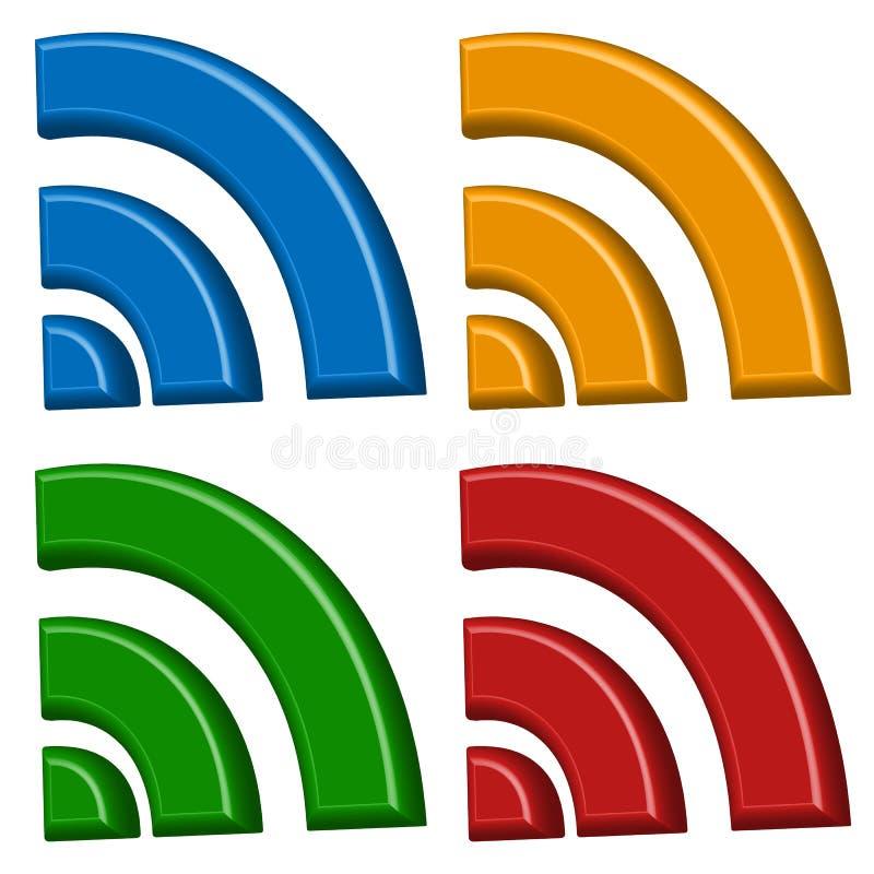 Señale la conexión inalámbrica, wifi, muestras inalámbricas de Internet, sym stock de ilustración