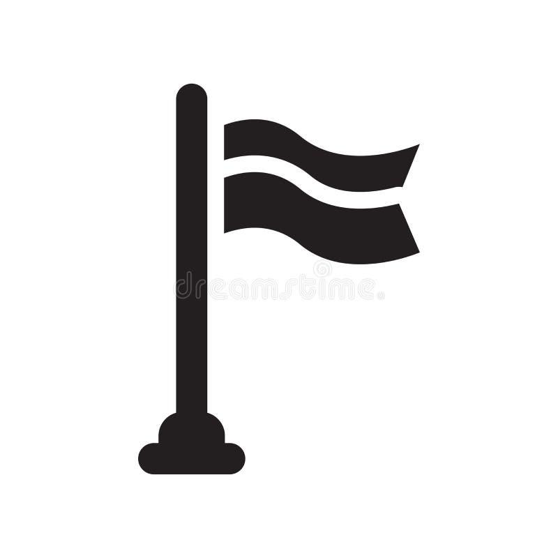 Señale la muestra y el símbolo del vector por medio de una bandera del icono aislados en el fondo blanco, F libre illustration