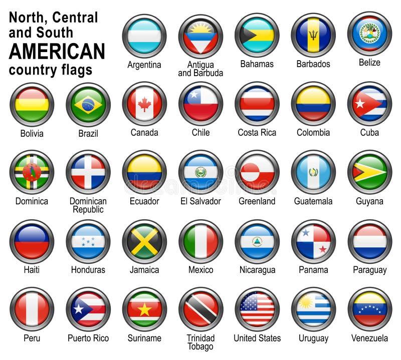 Señale los botones del Web por medio de una bandera stock de ilustración