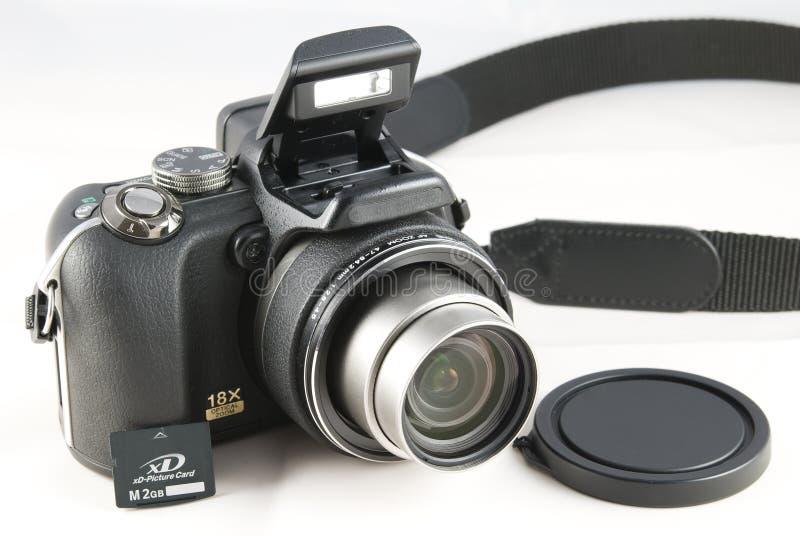 Señale y tire las cámaras digitales del zoom imágenes de archivo libres de regalías