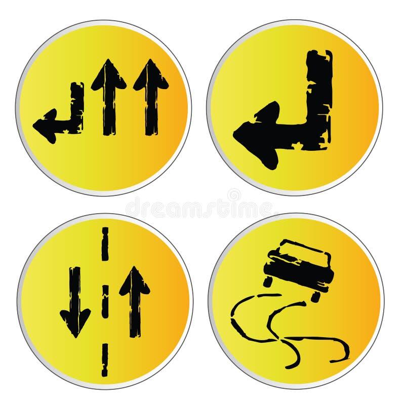Señales amarillas stock de ilustración